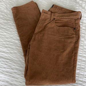 Gap Corduroy Skinny Pants Brown Sz 32x30